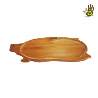 Wooden Lechon Tray, Wooden Tray for Lechon, small size 30 inches. Wooden Pig Platter Decorative Serving Tray, Pig Shape Decorative Wooden Serving Tray, Fruit Tray, Party Tray, Roast Tray, Barbecue Tray, Boodle Tray, Food Tray for hosting parties.
