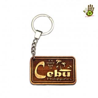 "Keychain ""Its More Fun In Cebu"" Island"