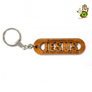"""Keychain """"A Relationship To Jesus"""" Religious"""