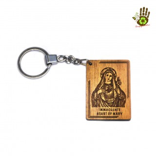 Keychain Rectangular (wkc129) - Immaculate Heart Of Mary