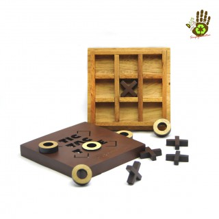 Wooden Board Game - Tic Tac Toe
