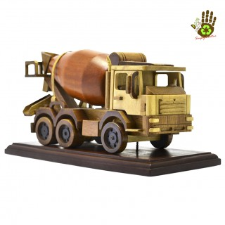 Wood Miniature Concrete Mixer Collector's Item with Box