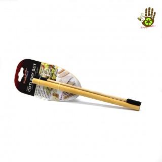 Wooden & Bamboo Cutlery Utensils - Straw