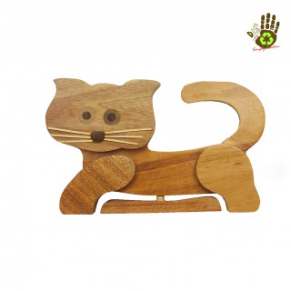 Wooden Tray Cat