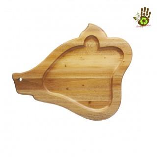 Wooden Tray Pig Head