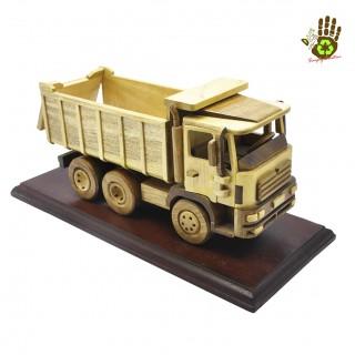 Wood Miniature Dump Truck Collector's Item