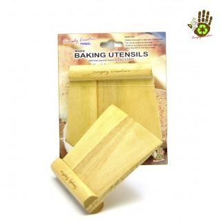 Wooden Baking Tools - Dough Cutter & Scrapper W/ Handle